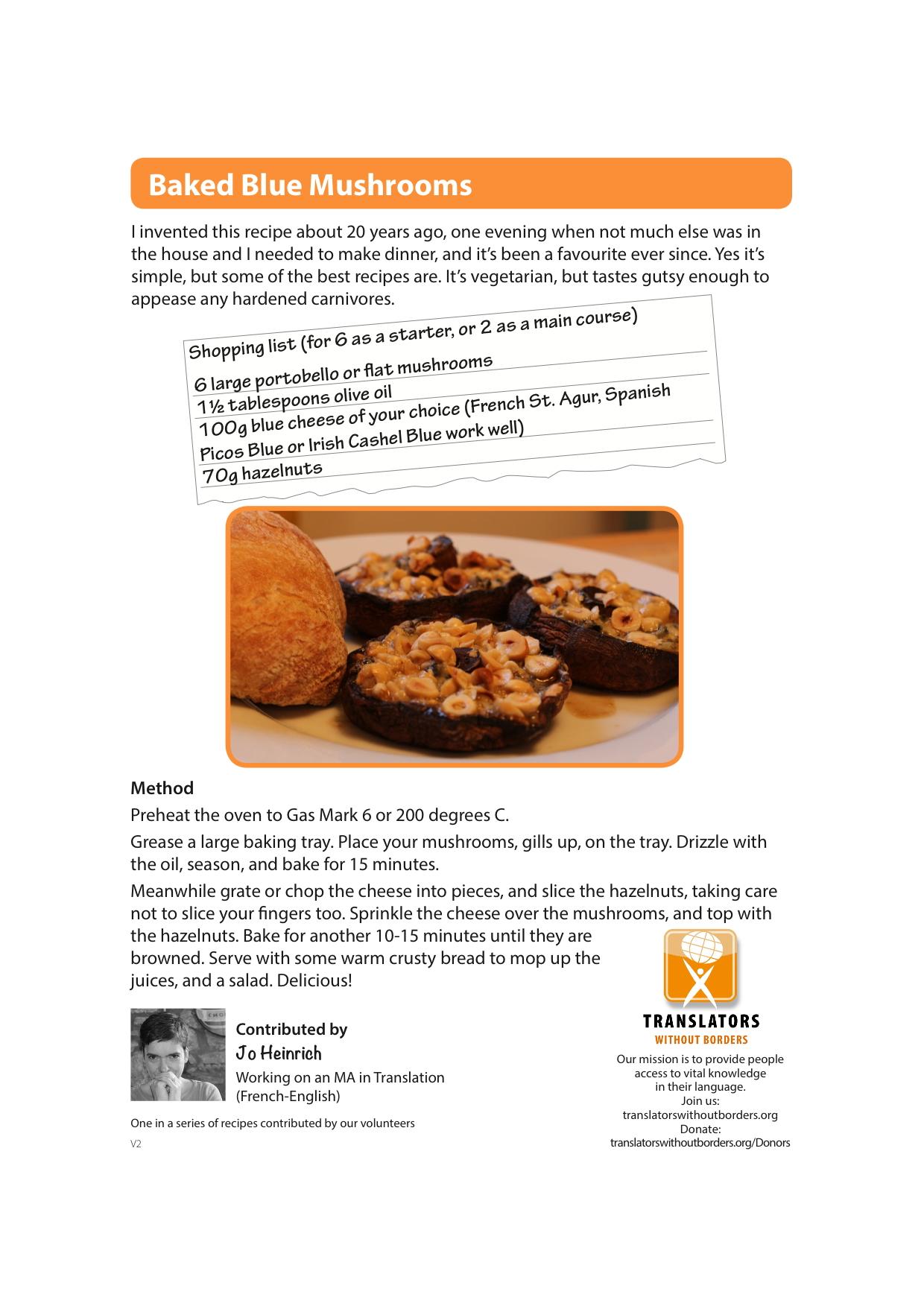 Baked blue mushrooms translators without borders cookbook download pdf forumfinder Image collections